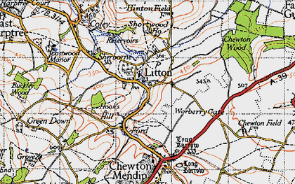 Old map of Litton in 1946