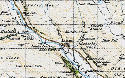 Old map of Ackerley Moor in 1947