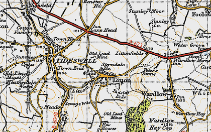 Old map of Litton in 1947