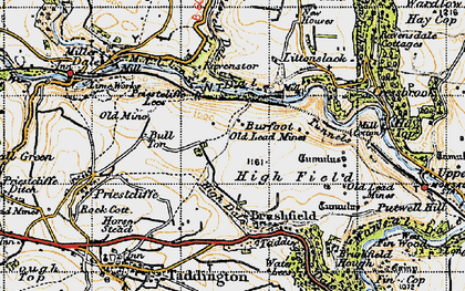 Old map of Litton Mill in 1947