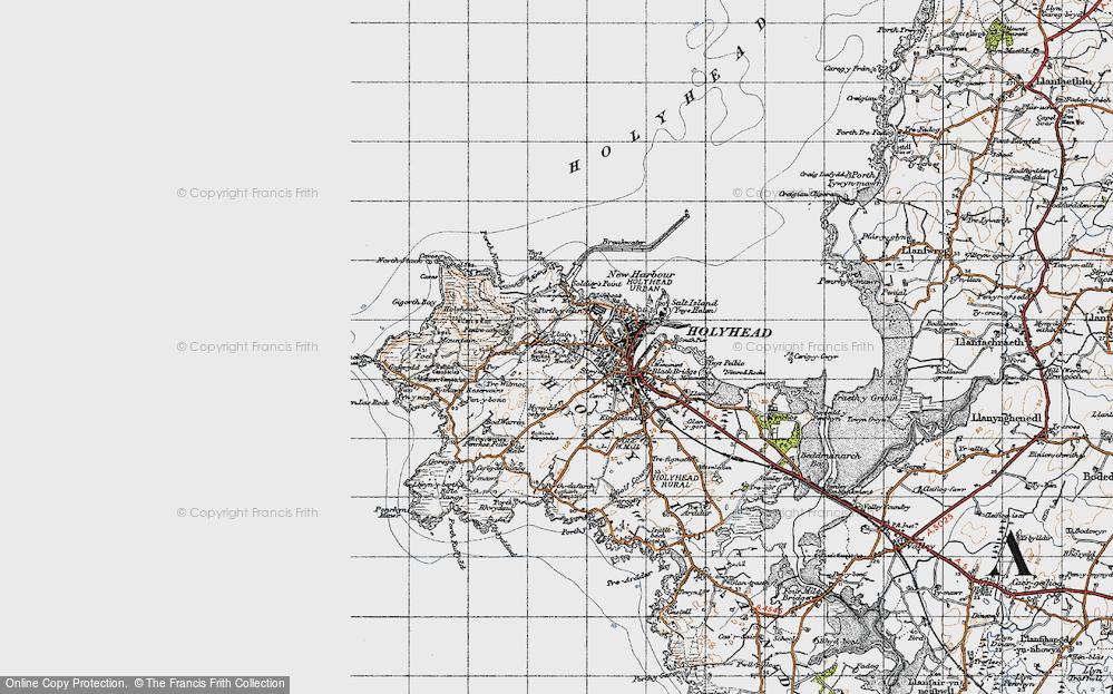 Old Map of Llaingoch, 1947 in 1947