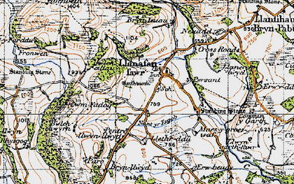 Old map of Allt y Clych in 1947