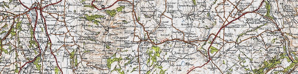 Old map of Tomen y Faerdre in 1947