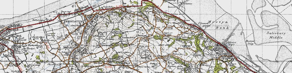 Old map of Llanasa in 1947