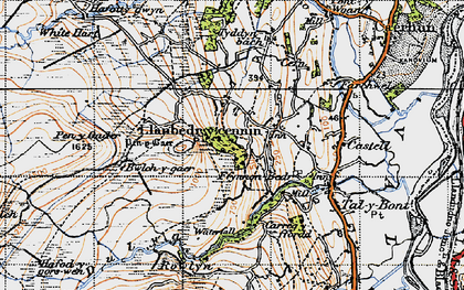 Old map of Afon Dulyn in 1947
