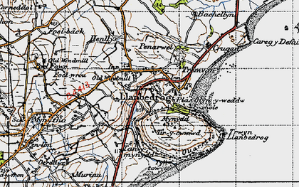 Old map of Bachellyn in 1947