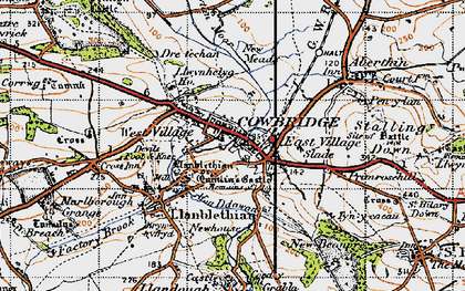 Old map of Llanblethian in 1947