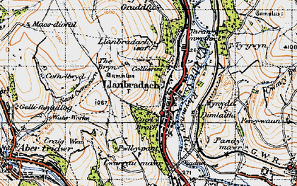 Old map of Llanbradach in 1947