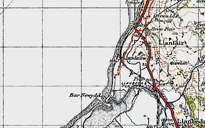 Old map of Bar Newydd in 1947