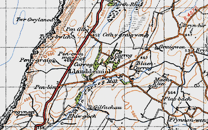 Old map of Aelybryn in 1947