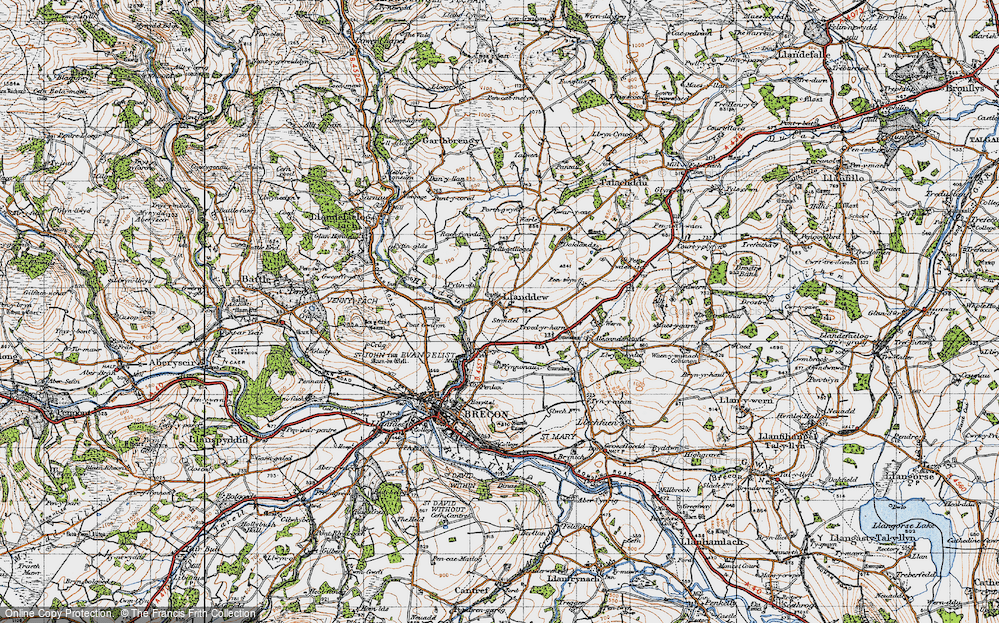 Old Map of Historic Map covering Alexanderstone in 1947