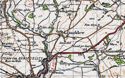 Old map of Alexanderstone in 1947