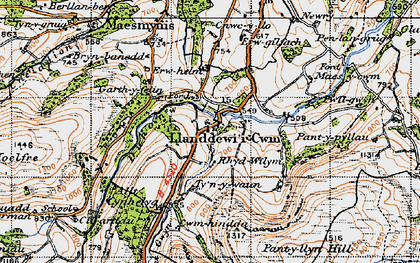 Old map of Banc y Celyn in 1947