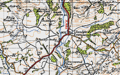 Old map of Aber-Camddwr Br in 1947