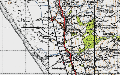Old map of Afon Ysgethin in 1947