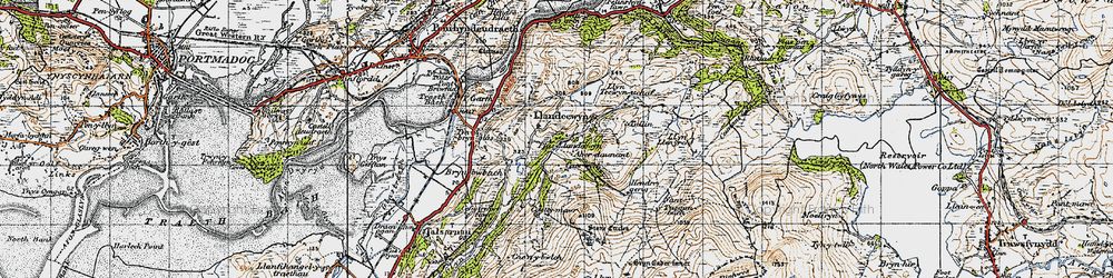 Old map of Y Gyrn in 1947