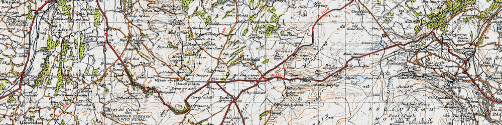 Old map of Accre in 1947