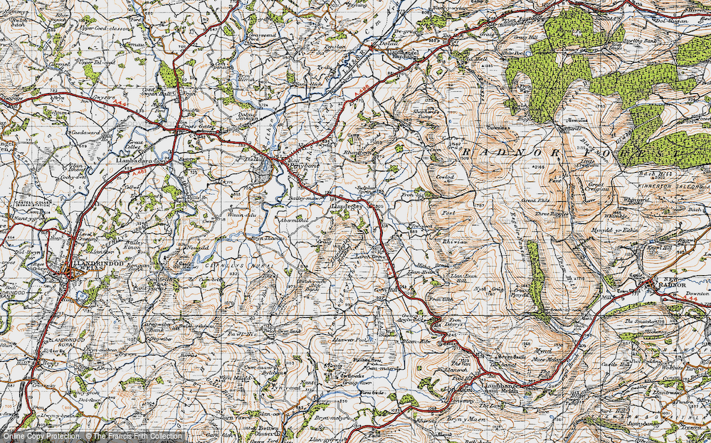 Old Map of Historic Map covering Bailey-mawr in 1947