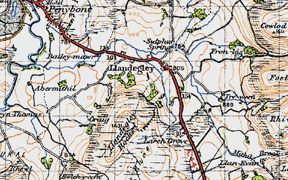Old map of Bailey-mawr in 1947