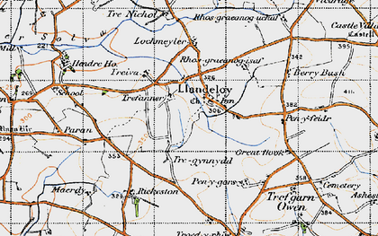 Old map of Paran in 1946