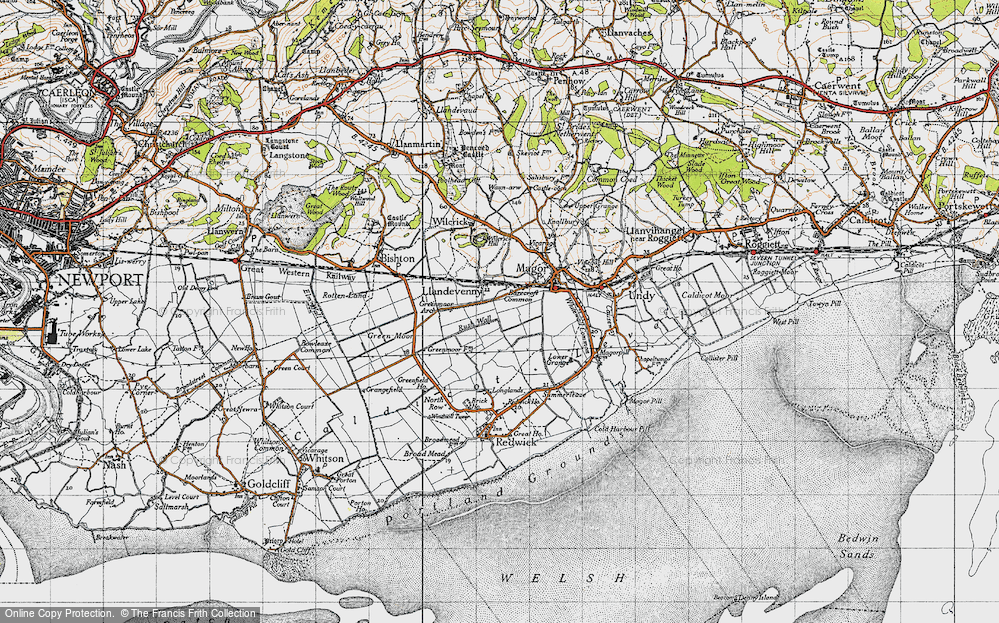 Old Map of Historic Map covering Barecroft Common in 1946