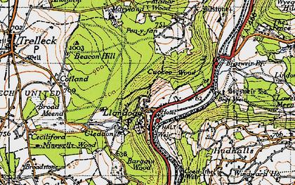 Old map of Llandogo in 1946