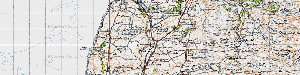 Old map of Aberceiro in 1947
