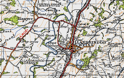 Old map of Bailey Einon in 1947