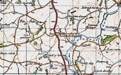 Old map of Ystradferthyr in 1946