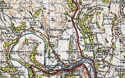 Old map of Llandynan in 1947