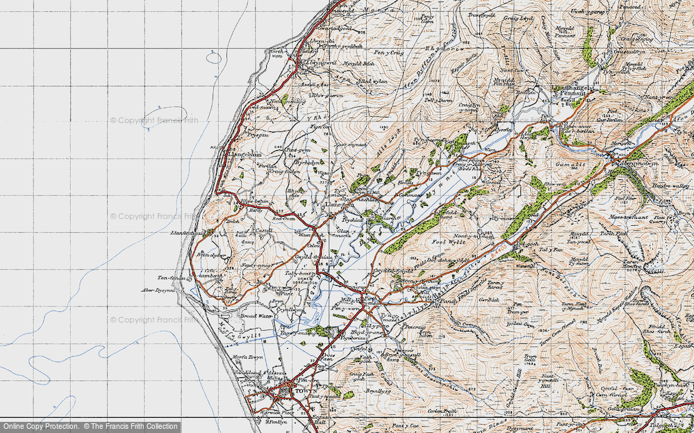 Old Map of Llanegryn, 1947 in 1947