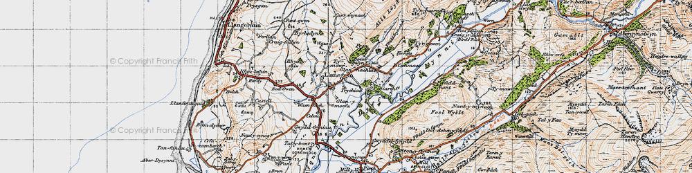 Old map of Llanegryn in 1947