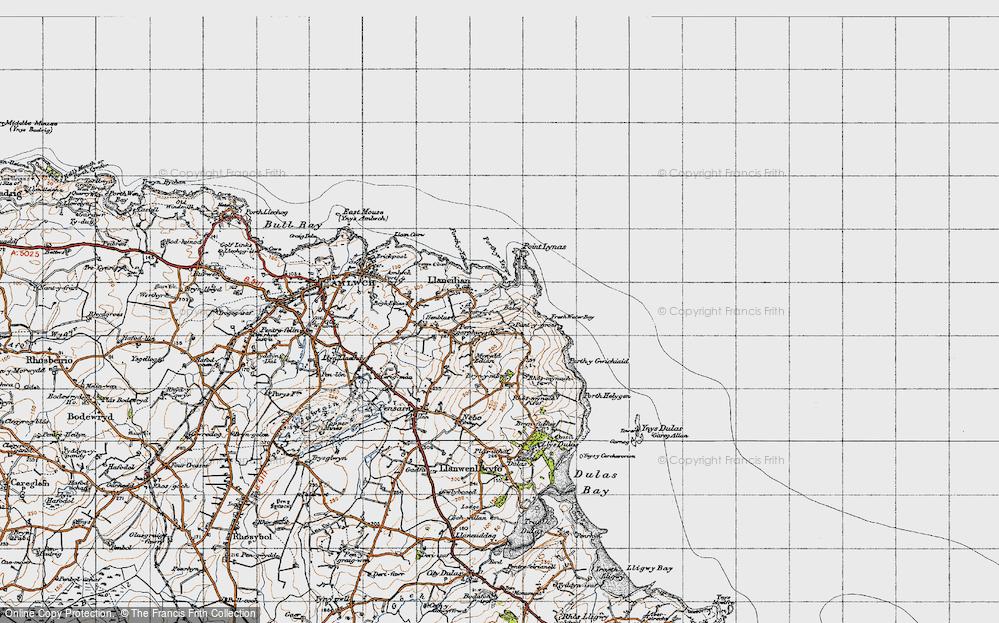 Old Map of Llaneilian, 1947 in 1947