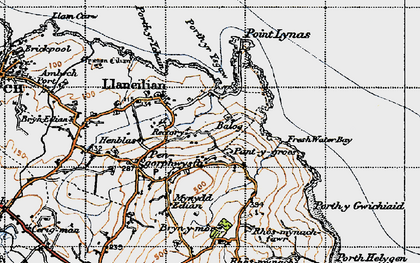Old map of Balog in 1947