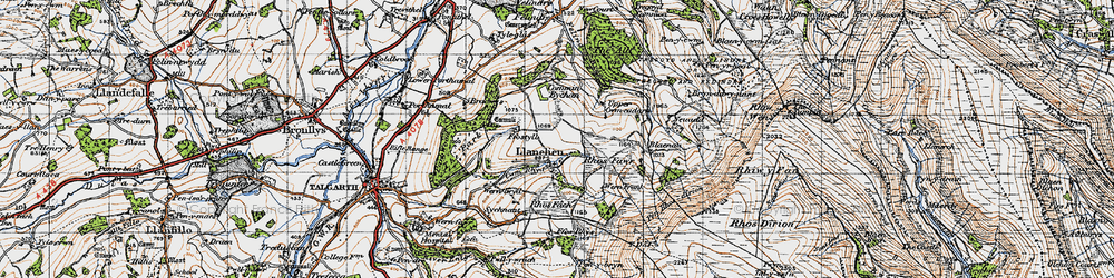 Old map of Y Das in 1947