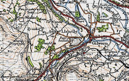 Old map of Tir Gunter in 1947