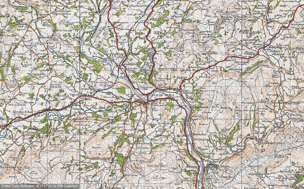 Old Map of Llanelwedd, 1947 in 1947