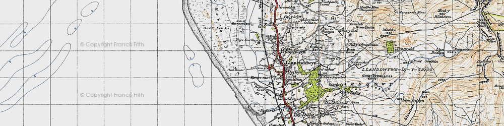 Old map of Ynys-Gwrtheyrn in 1947