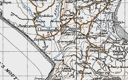 Old map of Bachwared in 1947