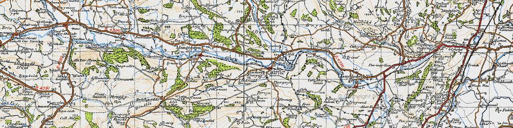 Old map of Allt Goch in 1947