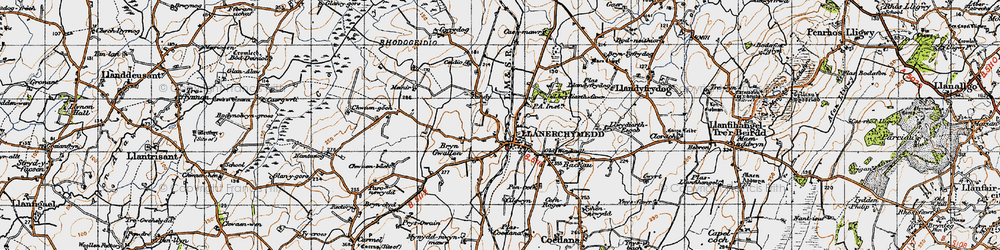 Old map of Wilpol in 1947