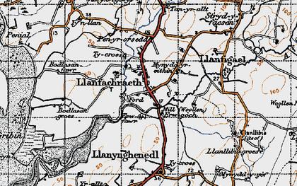 Old map of Llanfachraeth in 1947