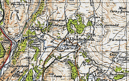 Old map of Afon Babi in 1947