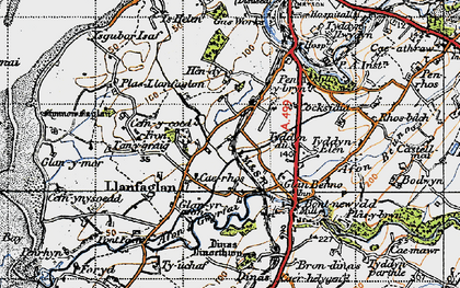 Old map of Ysgubor Isaf in 1947