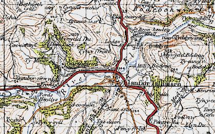 Old map of Ysgubor-newydd in 1947