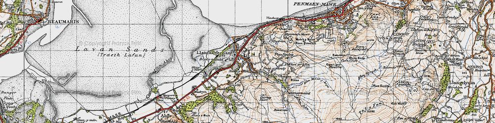 Old map of Llanfairfechan in 1947