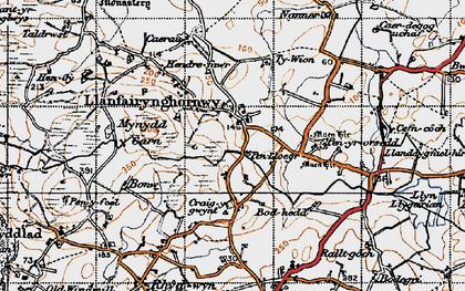 Old map of Llanfairynghornwy in 1947