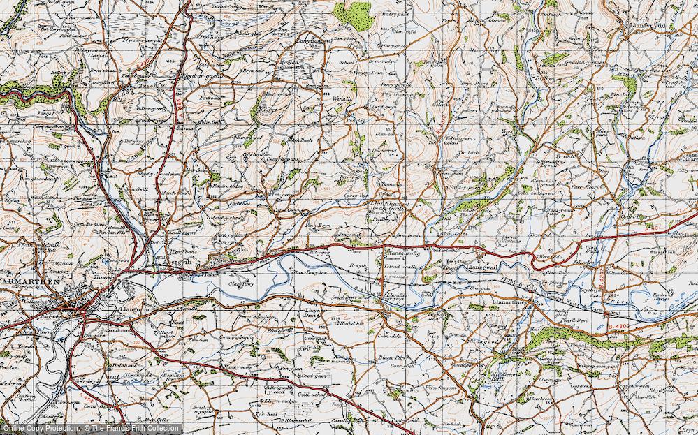 Llanfihangel-uwch-Gwili, 1946