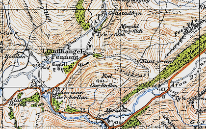 Old map of Llanfihangel-y-pennant in 1947