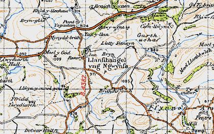 Old map of Adwywynt in 1947